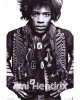 "JIMI HENDRIX ""Warrior"" Black & White Poster 24"" x 36"" Officially Licensed - NEW"