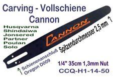 """Carving Schwert 35cm 1/4"""" 2,5 cm Spitze für Husqvarna Jonsered Dolmar Kettensäge"""