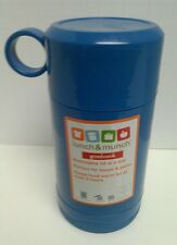 LUNCH & MUNCH THERMOS REMOVABLE LID IS A CUP FOOD WARM AT LEAST 5 HOURS BLUE