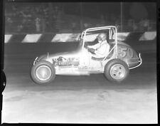 8 4x5 Photo Negs 1960s MIDGET RACING Dirt Track BAKERSFIELD & TROJAN SPEEDWAY CA