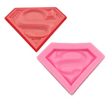 Super Man S Letter Silicone Icing Mould Baking Chocolate Cake Topping Sugarcraft