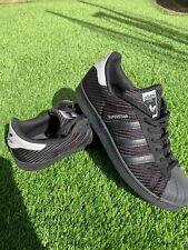 Men's Adidas Originals Superstar Carbon Black Grey Trainers UK 9.5 US 10 EUR 44