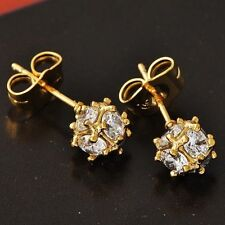 Exquisite Womens Yellow Gold Filled Earring Clear CZ Megic Ball Stud earing