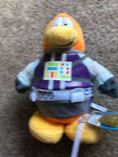 "Disney Club Penguin Astronaut 8"" Soft Toy Plush BNWT And Coin"