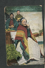 unmailed post card Irish Street Merchant having a quiet smoke woman /Chas L Reis
