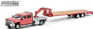 GREENLIGHT RED CHEVROLET 3500OHD WITH GOOSENECK TRAILER 51356-B DCP