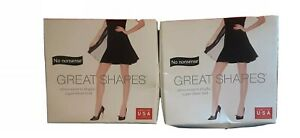 NEW  ☆2 PAIRS!☆☆ of No Nonsense Great Shapes Super Sheer Pantyhose Suntan Size C