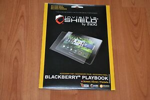 INVISIBLE SHIELD BY ZAGG FOR BLACKBERRY PLAYBOOK + BRAND NEW IN SEALED PACKAGE