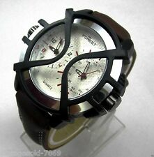 Fastrack Design Leather Belt Men's Watch FOREST BRAND Double Time In BOX PACKING