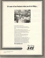1975 Original Advertising' SAS Scandinavian Airlines System Company Aerial Tokyo