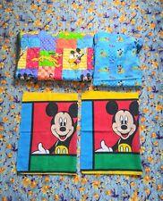 Vintage Disney Mickey Mouse Toddler Bedding Blanket Sheet Pillowcase