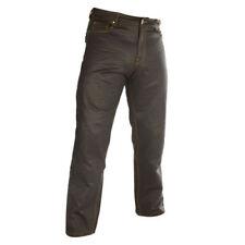 Pantaloni neri urbani con protezioni rimovibili per motociclista