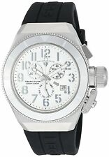 Swiss Legend Men's Silver Steel Case Black Strap Quartz Watch 13844-02-SA-BLK
