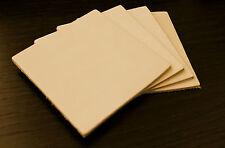 4 Stück 10x10 cm Blankleder, Leder, Punzierleder, vegetabil, Dickleder, Rind