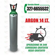Bombola Argon 14 Litri, nuova, completa di carica.