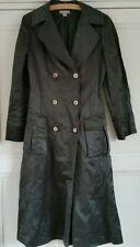 Button Knee Length Silk No Pattern Coats & Jackets for Women
