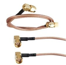 SMA male right angle to SMA right angle pigtail cable 30cm RG316 50 ohm F5599K