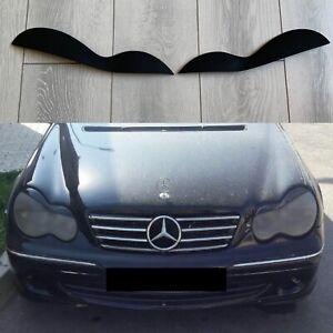 For Mercedes Benz W203 C Class AMG Headlight Cover Eyelashes Eyelids Eyebrows