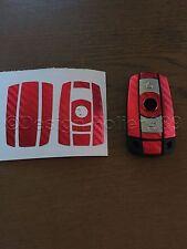 CARBONIO Cromo Rosso Chiave Pellicola BMW Chiave 1 3 5 X5 X X6 E60 E70 E90 E91