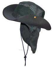 Summer Wide Brim Mesh Safari/Outback Hat W/Neck Flap #982 Hunter XL