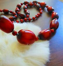 "African type resin bead necklace 42""      divp"