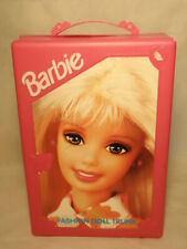 Mattel Barbie Fashion Doll Plastic Trunk Storage Carrying Case 1998 *As-Is*