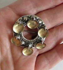 Antique SOLJE Signed Norwegian Norway C-clasp 830S Silver Pin Brooch