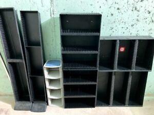 Vintage CD DVD Storage Organizer Wall Mountable Holder Rack Towers (Lot of 8)
