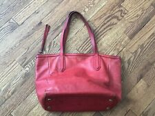 Orange Red Fossil Handbag Purse