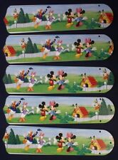"""New Disney Micky & Minnie Mouse & Friends 52"""" Ceiling Fan Blades Only"""