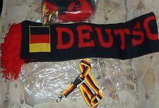 SET DEUTSCHLAND Cap SCHAL NEU Fussball EM WM Fan-Nachlass Kappe Basecap