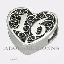 16 Candles Slide Charm 29929 Lmtd Authentic Lori Bonn Bonn Bons Silver