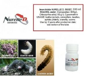 100ml Insecticide NurelleD,Cyren analog kills Leather Jackets, Grubs, Crane Fly