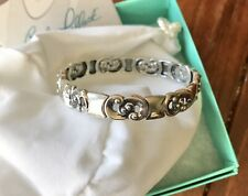 Sterling Stretch Bracelet, L Carolyn Pollack Unity Design