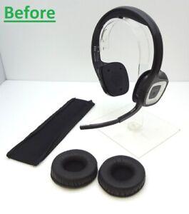 Plantronics Audio 655 & 995 Gamrcom P80 & 818 - 2 Ear Cushion + 1 Headband Cover