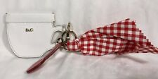 DOLCE & GABBANA D&G Fabric Leather key fob/ coin purse/ bag charm/ NWOT SEE PICS