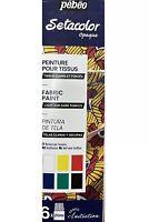 Pebeo Setacolor Tessuto Pittura 6 X 20ml Opaco Luce & Scuro 756481