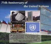 Gambia UN Stamps 2021 MNH United Nations 75 Yrs Architecture Skyscrapers 4v M/S
