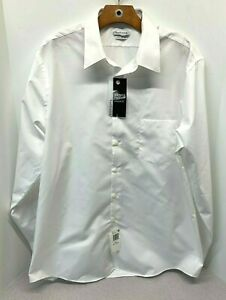 Van Heusen Dress Shirt Regular Fit Poplin Wrinkle Free - 16-1/2 34-35 -$45 (C-7)