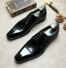 Mens Real Leather Business Leisure Shoes Bridegroom Wedding Pointy Toe Oxfords