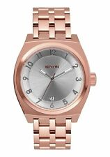 NIB Nixon Monopoly Stainless Steel Watch 40 MM All Rose Gold  A325-1044-00