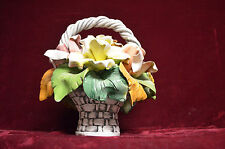 Capodimonte Large Vintage flower basket Beautiful, Colorful,Stunning, must see!