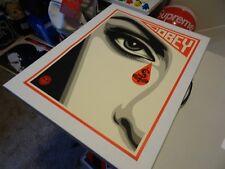 """2010 Obey Giant Shepard Fairey """" Eye Alert """" ART PRINT PASTER POSTER RARE KAWS 1"""