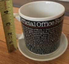 Vintage Coffee Mug Official Office Einstein's Three Rules Work Captain Jack's
