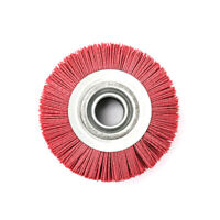 """6"""" Abrasive Wire Nylon Wheel Bench Grinder Polishing Tool Red 5/4"""" Bore 80 Grit"""