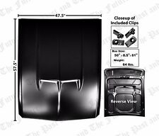 Eleanor Style Steel Hood w/ Functional Hood Scoops MSHD6768-7
