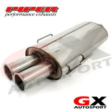 Piper Exhausts CBMW 1bb BMW e36 318i 8v TWIN EXIT Back Box mit Link Pipe
