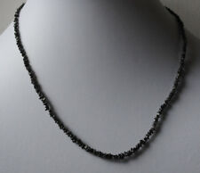 Natur Roh-Diamant Kette, Collier mit schwarz Rohdiamanten, Top Qualität