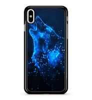 Howling Blue Space Wolf Cosmic Nova Star Cluster Dark Sky 2D Phone Case Cover