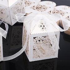 50pcs Bomboniera Scatole Caramelle Chocolate Matrimonio Confetti Portaconfetti